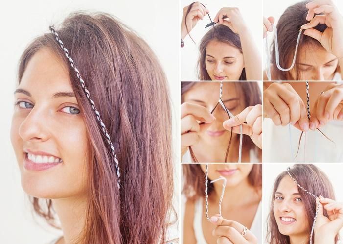 Peinados hippies trenzas sueltas