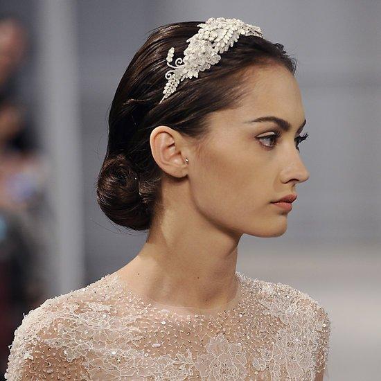 Peinados para novias 2014 recogido bajo diadema peinados - Peinados de novia recogido ...