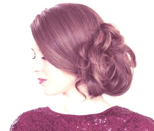 peinados-y-cortes-de-pelo-para-san-valentin-mujeres-recogido-de-lado-despeinado