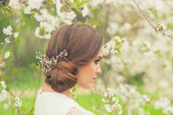 Peinados para novias recogido lateral