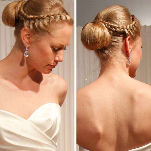 Peinados con trenzas 2018 peinados es for Recogidos altos para novias