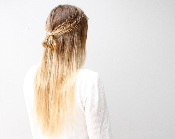 Tumblr prom hair updo with braid