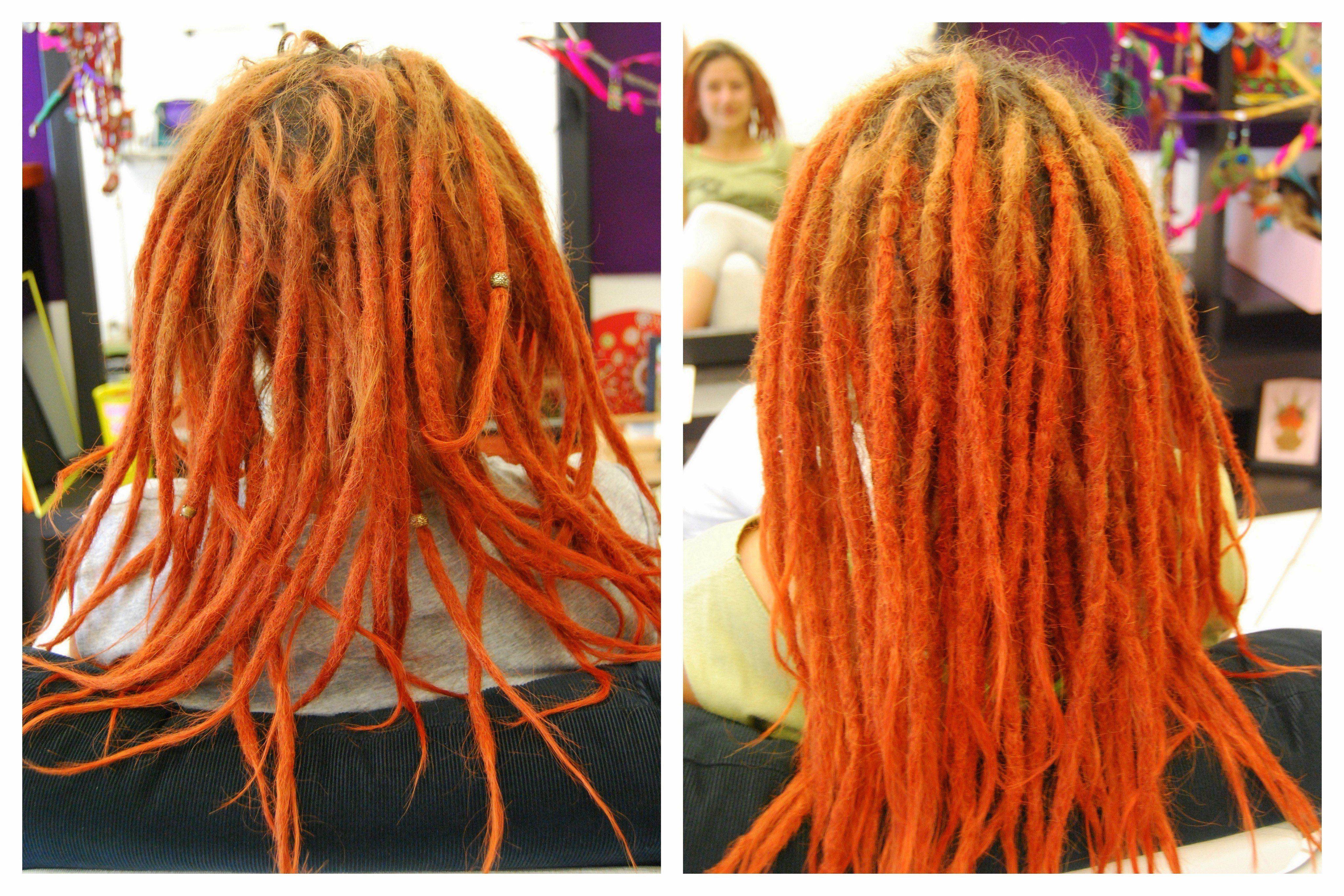 Creativo peinados con rastas Imagen de ideas de color de pelo - peinados-con-rastas-2016-de-color-naranja - Peinados