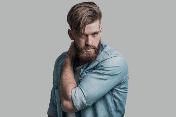 Peinados faciles hombre pelo corto con flequillo al lado