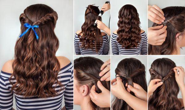 Peinados semirecogidos lazo