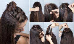 Peinados semirecogidos trenza superior