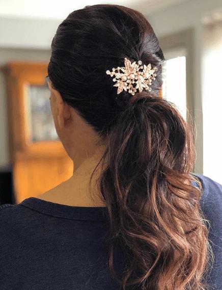 Peinados de madrina pelo largo