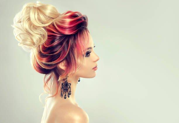 Peinados pelo rizado peinado recogido